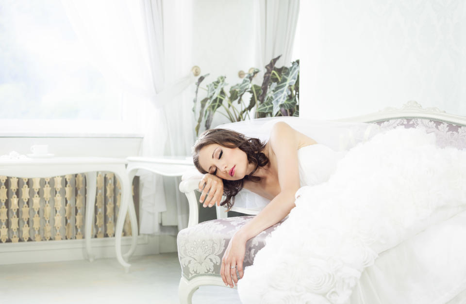 Here's how to get the best pre-wedding night's sleep [Photo: Getty]