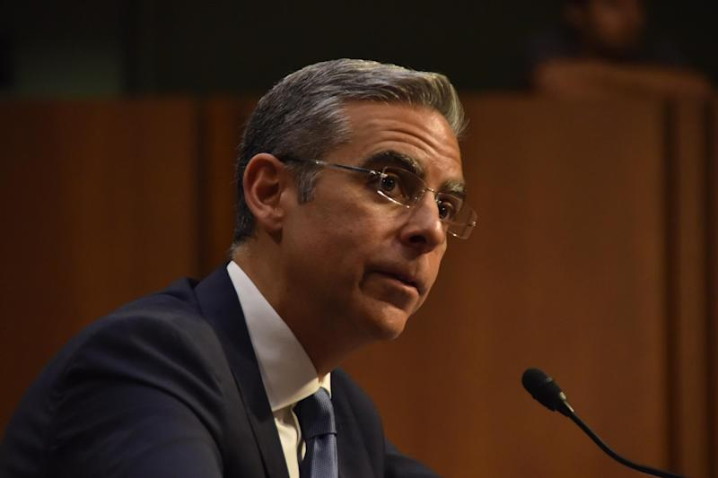 WASHINGTON, DC - JULY 16: David Marcus, head of blockchain with Facebook Inc., speaks during a House Financial Services Committee hearing on July 16, 2019 in Washington, DC. (Photo by Sha Hanting/China News Service/Visual China Group via Getty Images)