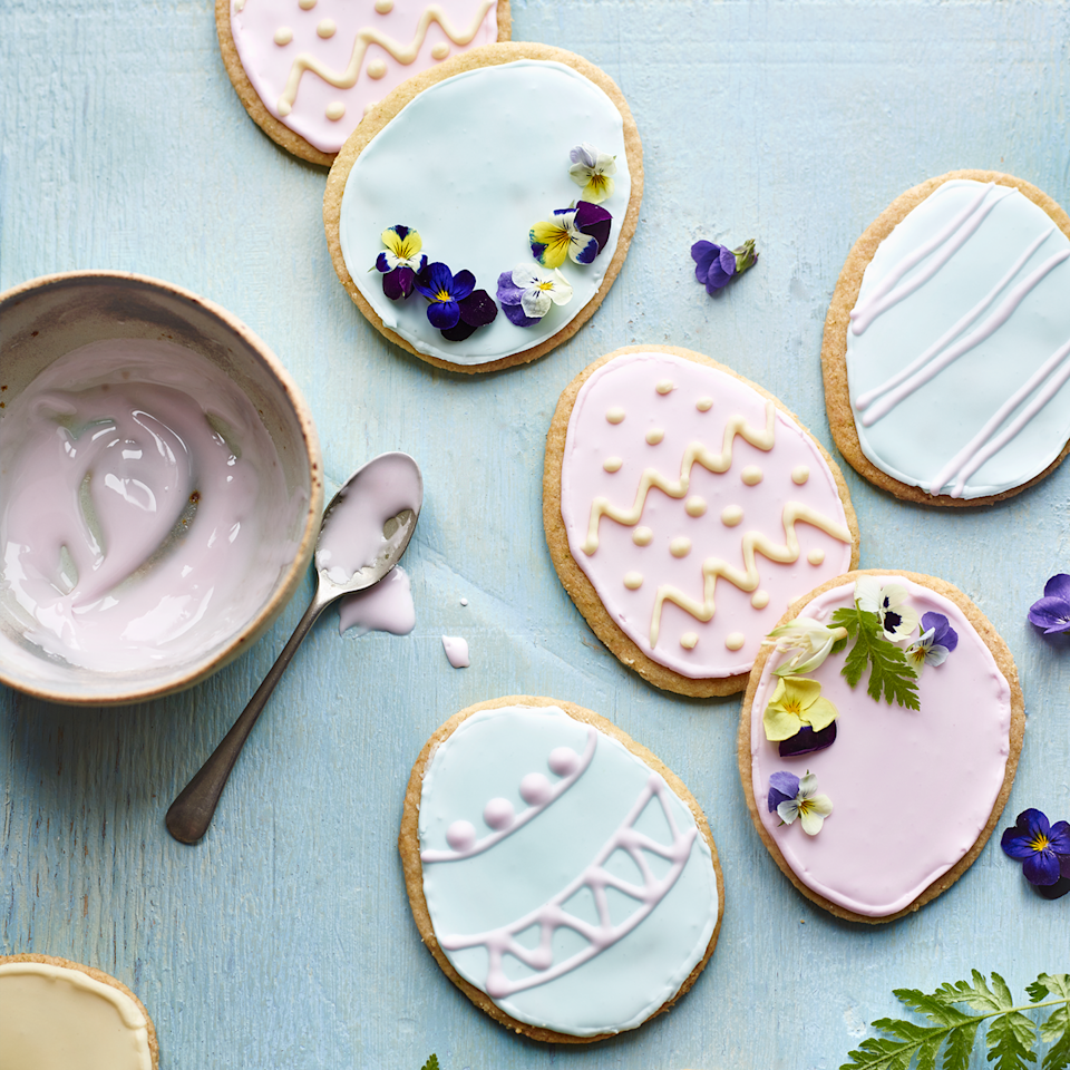 """<p>Decorating Easter biscuits is a great way to spend the holidays with the kids or just to brush up on your own skills. Simply stock up on piping bags and get messy!</p><p><strong>Recipe: <a href=""""https://www.goodhousekeeping.com/uk/food/recipes/coconut-and-lime-easter-shortbread"""" rel=""""nofollow noopener"""" target=""""_blank"""" data-ylk=""""slk:Coconut and lime short bread"""" class=""""link rapid-noclick-resp"""">Coconut and lime short bread</a></strong></p>"""