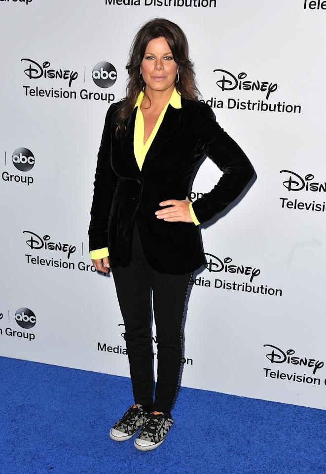 BURBANK, CA - MAY 19:  Actress Marcia Gay Harden arrives at the Disney Media Networks International Upfronts at Walt Disney Studios on May 19, 2013 in Burbank, California.  (Photo by Angela Weiss/Getty Images)