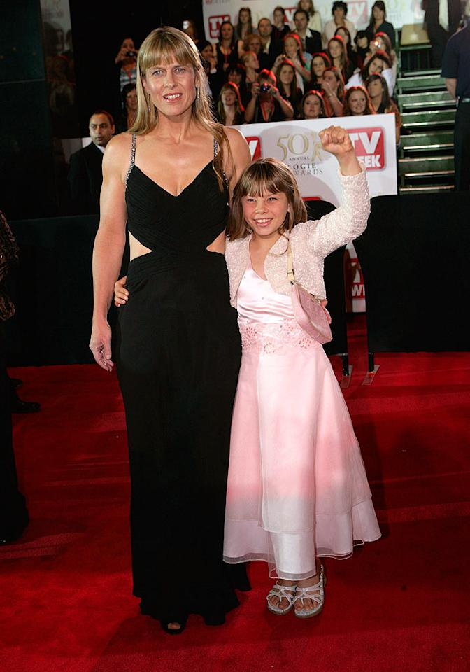 "Tragedy has only strengthened the mother-daughter bond between Steve Irwin's widow Terri and their daughter Bindi. Serge Thomann/<a href=""http://www.wireimage.com"" target=""new"">WireImage.com</a> - May 4, 2008"