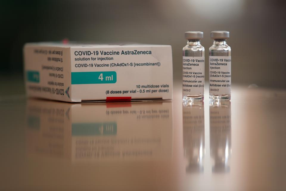 The Oxford/AstraZeneca coronavirus vaccine used on the residents at the Lady Forester Community nursing home in Much Wenlock, Shropshire. Picture date: Thursday March 25, 2021.