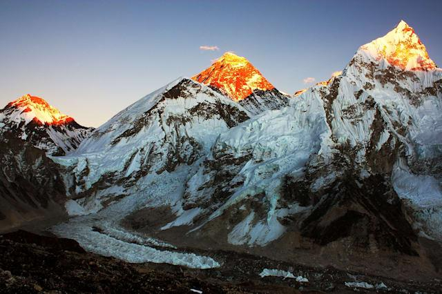 evening view of everest and...