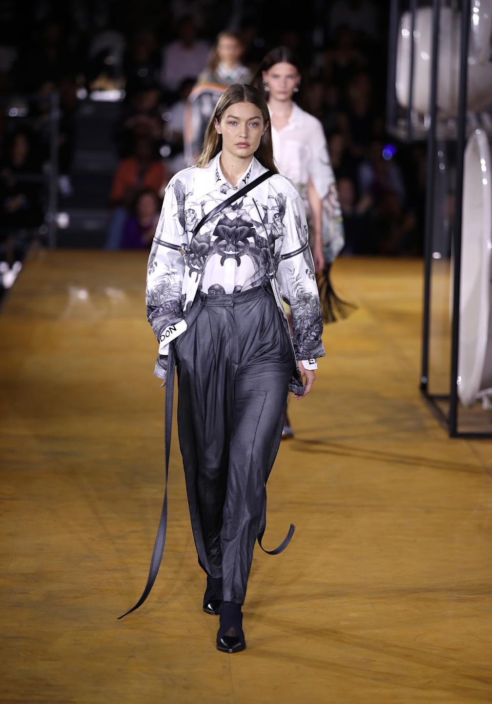 Gigi Hadid also walked Burberry's London Fashion Week show. [Photo: Getty Images]