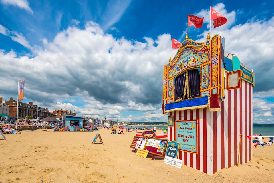 The beach features Punch & Judy shows (We Are Weymouth)