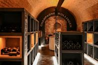 Around three million bottles of James Bond's favourite tipple Bollinger emerge from the champagne house's cellars outside Epernay, France each year