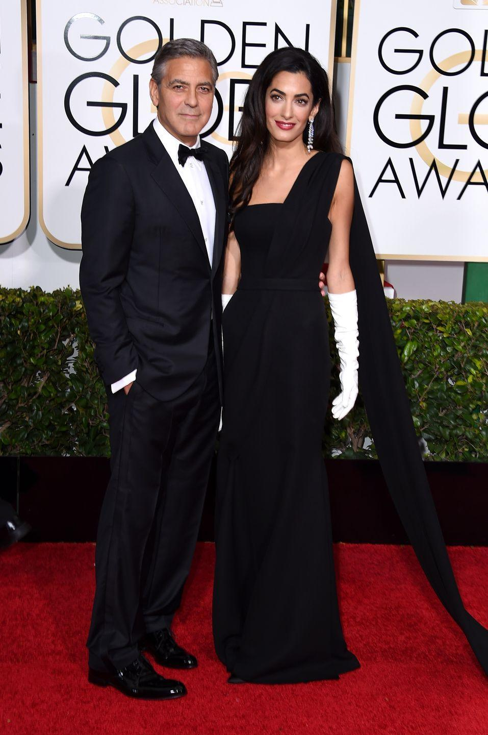 <p>George Clooney married human rights lawyer Amal Alamuddin in 2014. The couple share twins Alexander and Ella. </p>