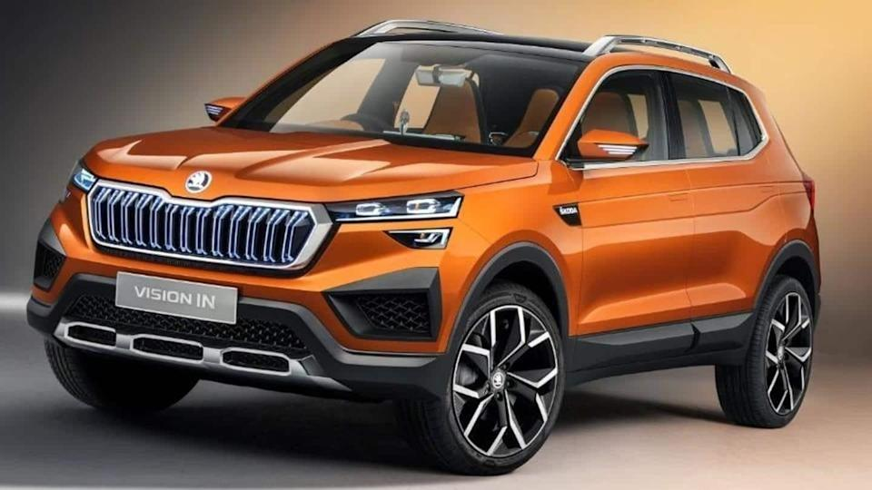 Ahead of launch, Skoda Vision IN mid-sized SUV spotted testing