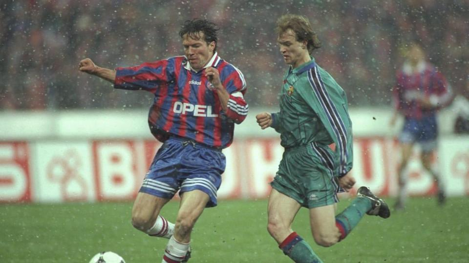 Lothar Matthaus, Jordi Cruyff | Shaun Botterill/Getty Images