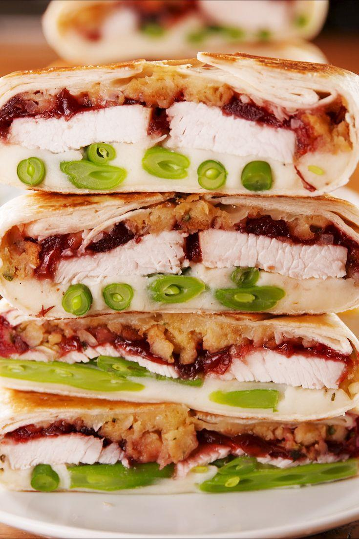 """<p>Tired of the same ol' leftover Thanksgiving sandwich? This Crunchwrap-copycat is the perfect way to shake things up. </p><p>Get the recipe from <a href=""""https://www.delish.com/holiday-recipes/thanksgiving/a25223451/thanksgiving-crunchwrap-recipe/"""" rel=""""nofollow noopener"""" target=""""_blank"""" data-ylk=""""slk:Delish"""" class=""""link rapid-noclick-resp"""">Delish</a>.</p>"""