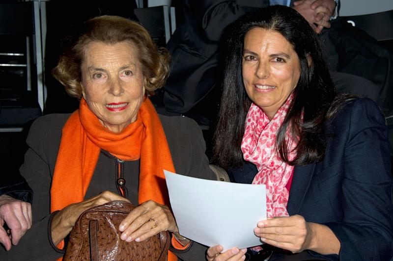Liliane Bettencourt and her daughter Francoise Bettencourt-Meyers
