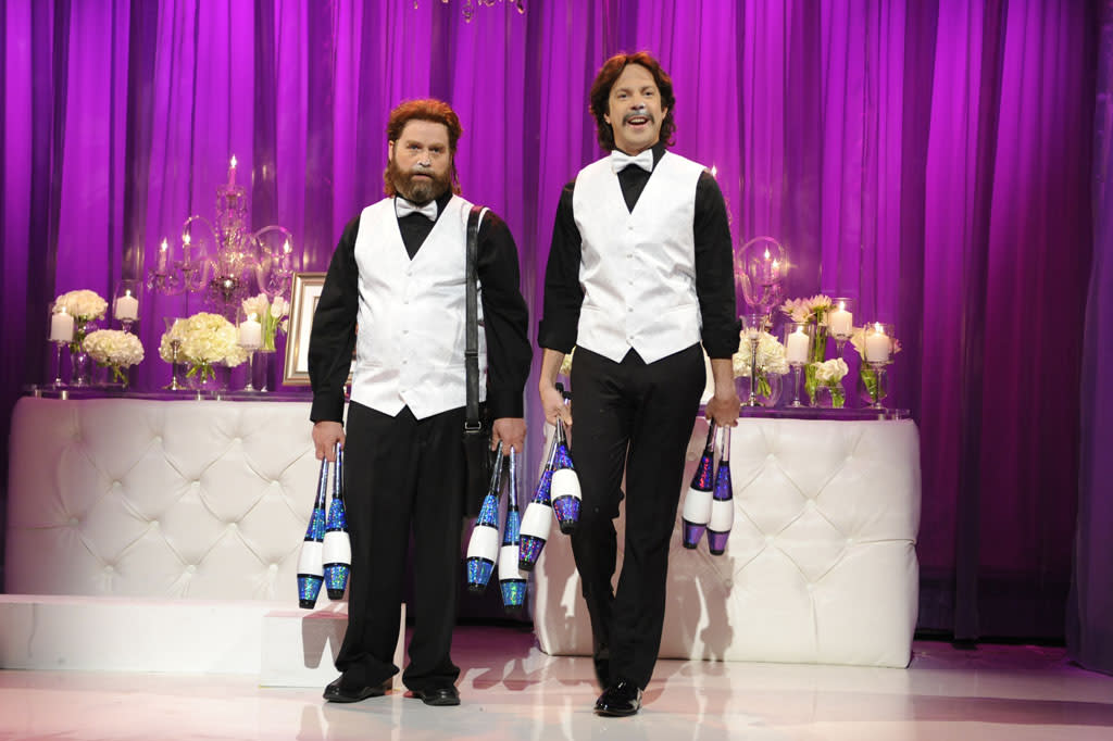 "Zach Galifianakis hosts the ninetenth episode of ""Saturday Night Live"" Season 38."