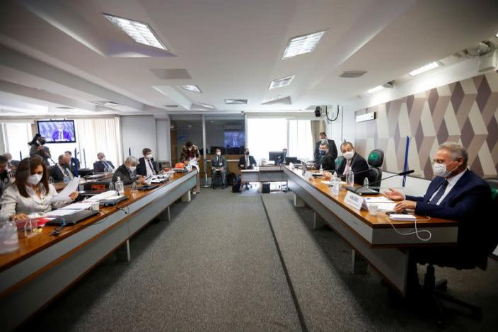 Meeting of the Parliamentary Inquiry Committee (CPI) at the Federal Senate in Brasilia