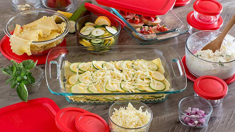 Bake and store with these glass containers.