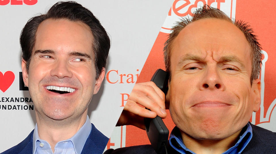 Jimmy Carr's joke about dwarfism has been blasted by Warwick Davis' charity (Credit: AP/PA)