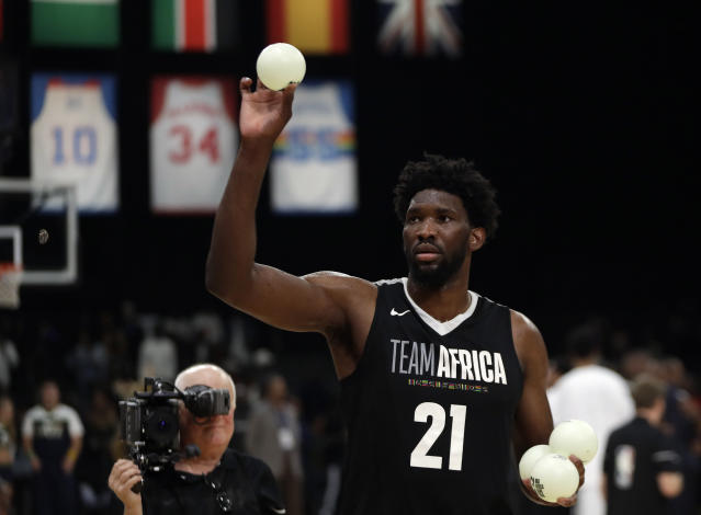 Joel Embiid will use tweets criticizing him as motivation next season. (AP Photo)