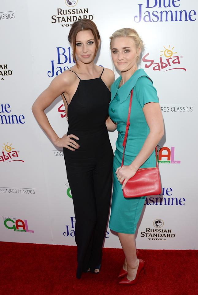 BEVERLY HILLS, CA - JULY 24: (L-R) ActressesAmanda Michalka and AJ Michalka arrive at the premiere of 'Blue Jasmine' hosted by AFI & Sony Picture Classics at AMPAS Samuel Goldwyn Theater on July 24, 2013 in Beverly Hills, California. (Photo by Jason Merritt/Getty Images)