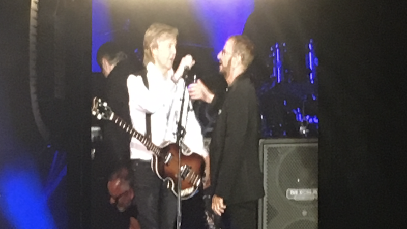 Paul McCartney, Ringo Starr reunite onstage in LA