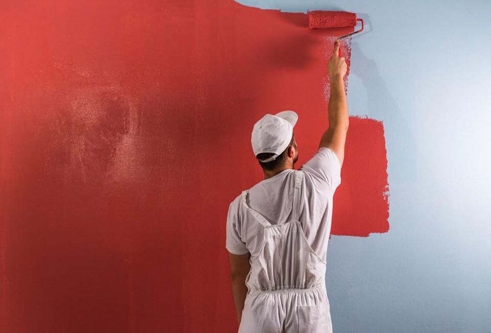 """Think any old paint will work on your walls and ceilings? Think again. """"The more shine a paint has, the more imperfections will be noticeable,"""" explains Quindemil. Instead, he recommends using flat paint, which allows you to """"easily touch up areas and hide imperfections."""""""