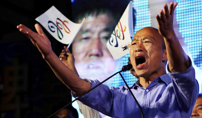 Han Kuo-yu looked on course to become Taiwan's next leader after the Kuomintang's success in the 2018 local government elections. Photo: Reuters