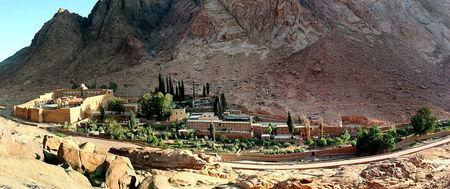 FILE PHOTO - A general view of the Saint Catherine's monastery with its living and tourist facility in the Sinai peninsula of Egypt