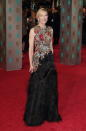 The actress looked to one of her favourite fashion houses, Alexander McQueen, for sartorial assistance ahead of the 2016 BAFTAs. [Photo: Getty]