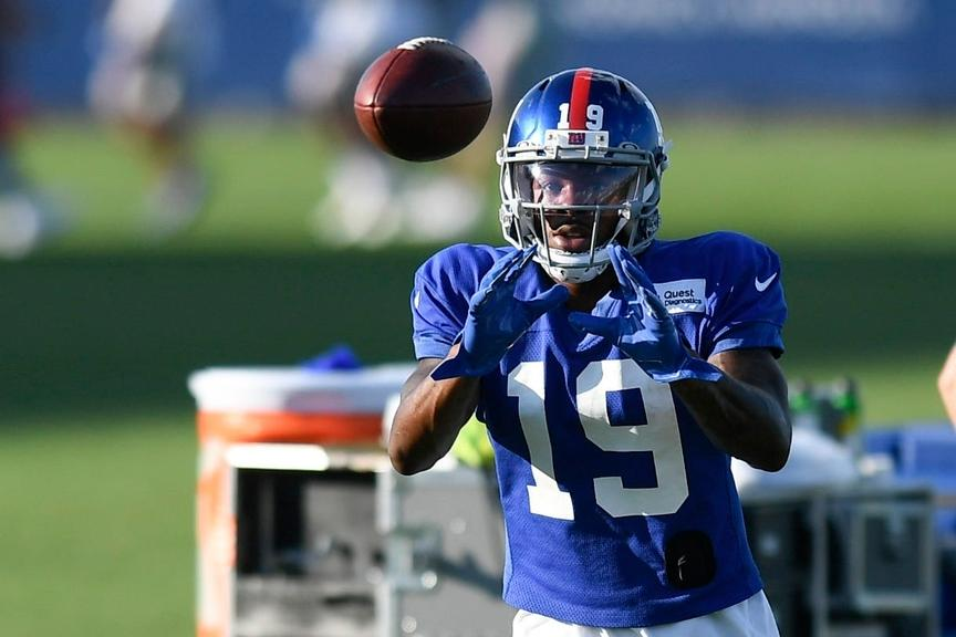 Corey Coleman at Giants training camp