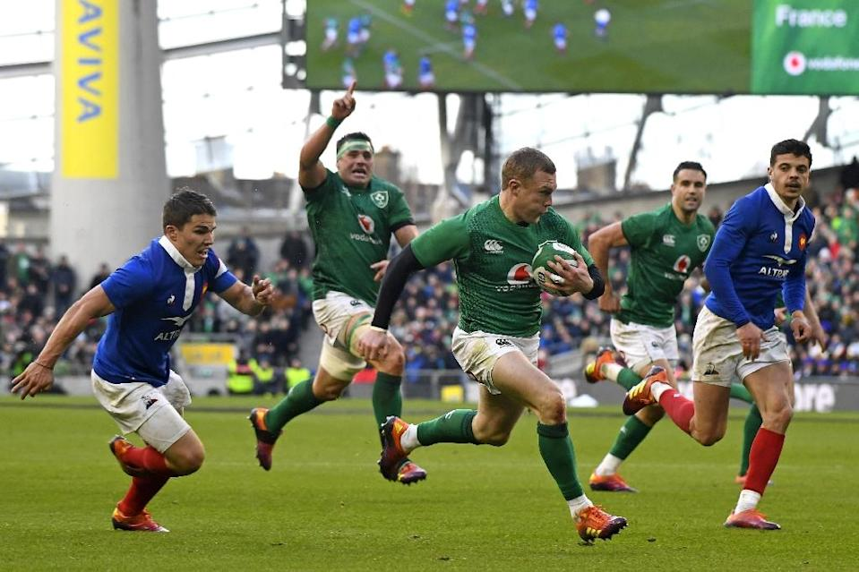 Ireland have found Wales in Cardiff a complicated fixture but their confidence has been boosted by the win over France, said coach Joe Schmidt (AFP Photo/DAMIEN MEYER)