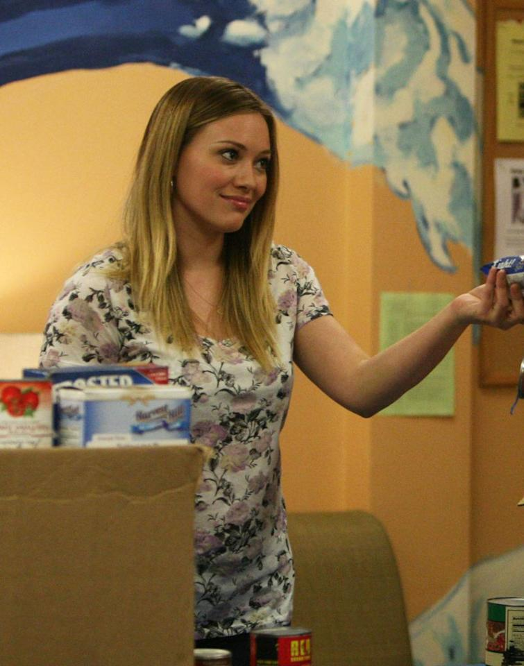 "Hilary Duff guest-stars as Rachel in ""The Old Girl"" episode of ""Raising Hope."""