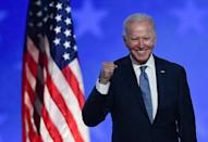 Democratic presidential candidate Joe Biden is close to the 270 Electoral College votes needed for victory in the White House race