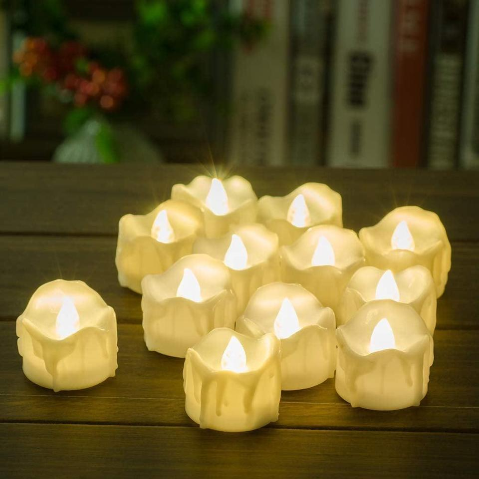 <p>Decorate your dorm with these battery-operated <span>PChero Timer Candles</span> ($12) to get that creepy melted wax look without the fire hazard!</p>