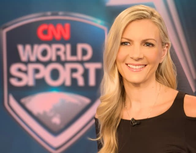 Journalist Rhiannon Jones anchors the live World Sport bulletins at CNN International and co-hosts a live breakfast show on the TalkSPORT network