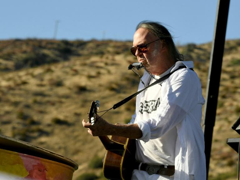"Long outspoken on politics, Neil Young, 74, officially endorsed Sanders on his website in March, saying ""every point he makes is what I believe in"""