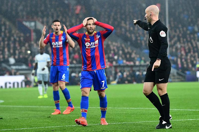 Anthony Taylor points to the spot (Getty Images)
