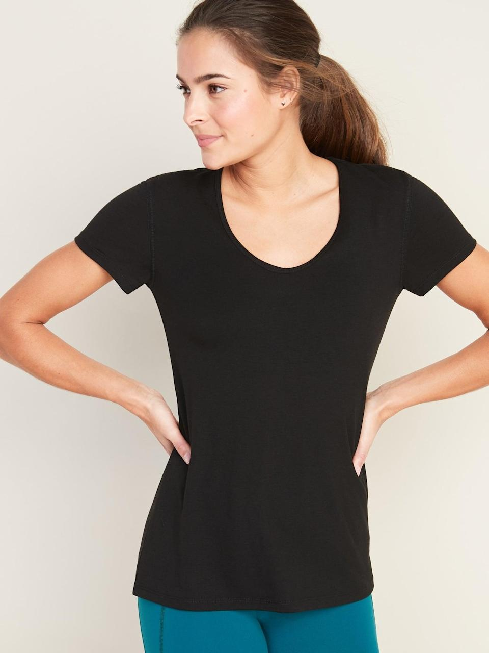 <p>You can't go wrong with this <span>Old Navy Lightweight Scoop-Neck Performance Top</span> ($15, originally $17).</p>