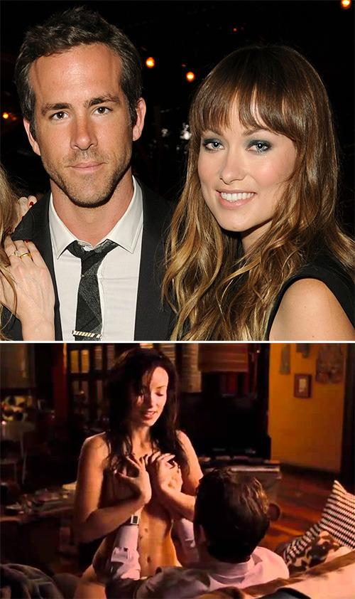 "<p>As friendly as you are with your co-star, nothing can really prepare you for seeing them in the buff, as Ryan Reynolds knows all too well.  Of his <i>The Change Up</i> co-star Olivia Wilde, Reynolds said, ""She had these pasties on, but she's drawn these adorable little smiley faces on them. And I forget every line in the scene, not juts from this movie, from every other movie I've done.""  He also revealed his hands got so sweaty during the scene that when he touched Wilde's breasts, the pasties came off. Whoops!</p>"