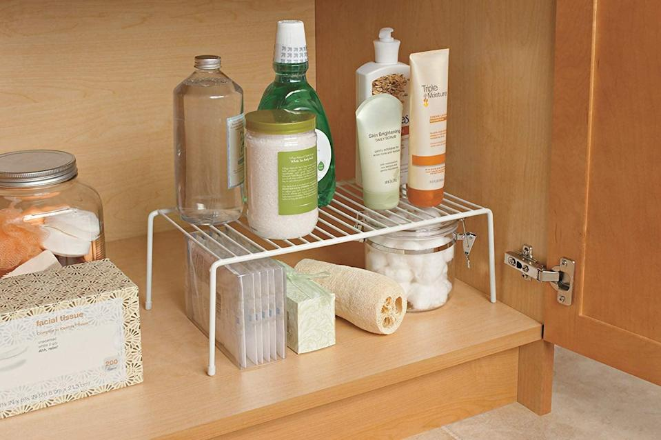 <p>Get a set of these <span>ClosetMaid Large Shelfs</span> ($10) to totally transform your kitchen.</p>