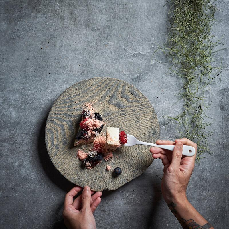 Goat's cheese parfait. Photo: Cheek Bistro