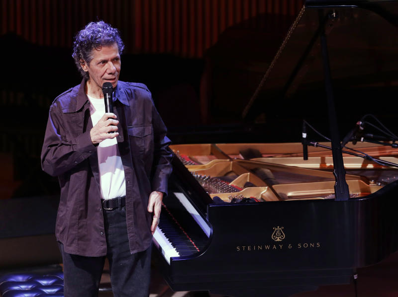 FILE - This Jan. 23, 2013 file photo shows Chick Corea during the opening night concert of the SFJAZZ Center in San Francisco. Last year, the 71-year-old jazz pianist and composer released four major recordings covering a wide gamut of music _ electric and acoustic, originals and standards, everything from solo piano improvisations to a concerto for jazz quintet and chamber orchestra. (AP Photo/Eric Risberg, file)