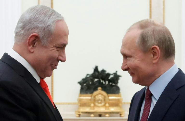 """The Israeli prime minister told Putin that Trump's peace initiative offered """"a new and perhaps unique opportunity"""""""