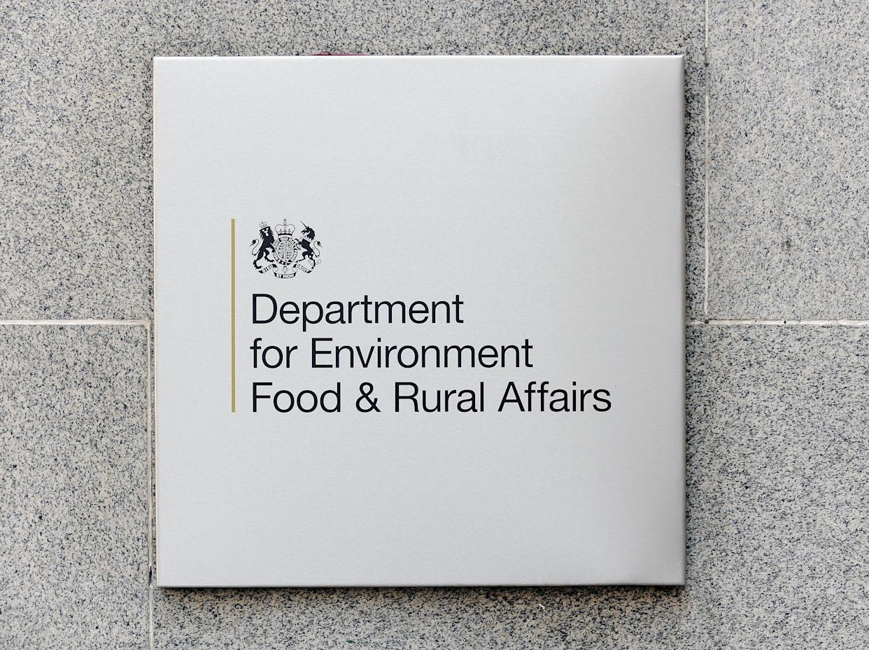 The sign at Defra headquarters in Smith Square, central London. PRESS ASSOCIATION Photo. Picture date: Monday February 18, 2013. Photo credit should read: Nick Ansell/PA Wire   (Photo by Nick Ansell/PA Images via Getty Images)