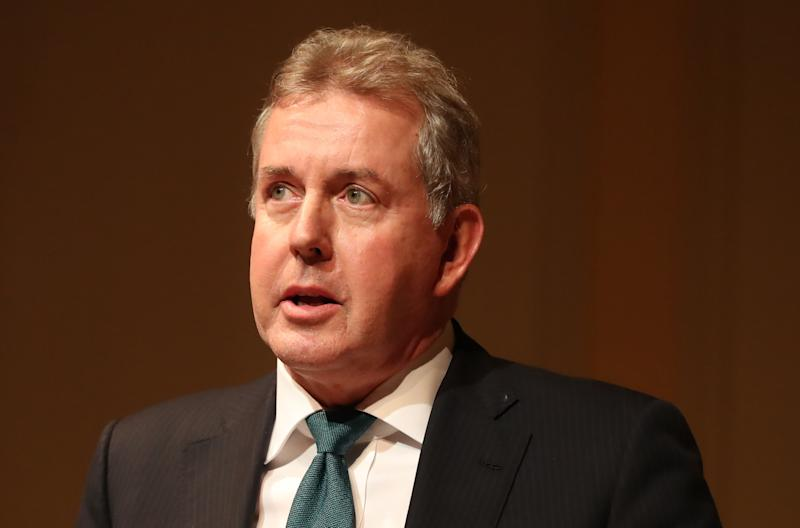 Kim Darroch, the United Kingdom's ambassador to the United States, speaking at a Good Friday Agreement 20th anniversary event at the Library of Congress in Washington DC on day three of Taoiseach Leo Varadkar's week long visit to the United States of America. (Photo by Niall Carson/PA Images via Getty Images)