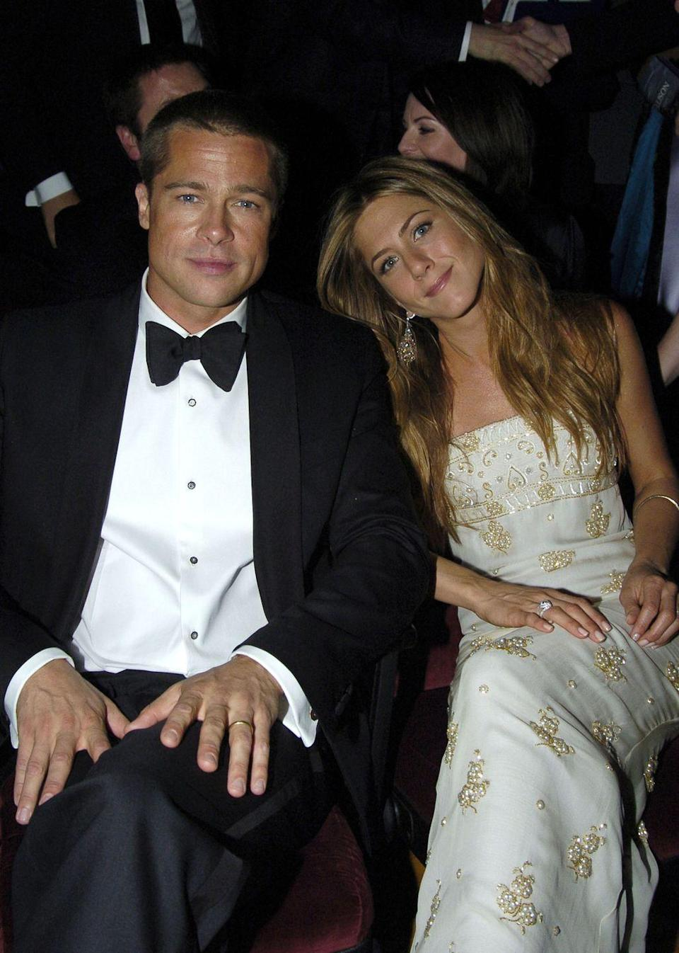<p>The couple poses at the Primetime Emmys in September 2004, which was one of the couple's final appearances before announcing their split.</p>