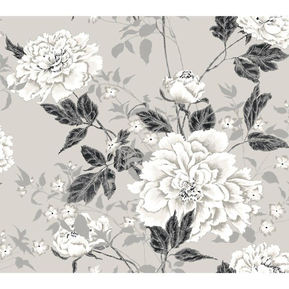 <p>This <span>Drew Barrymore Flower Home Vintage Floral Gray Peel & Stick Wallpaper</span> ($35) comes in a bunch of colors, but we love the muted neutral variety.</p>