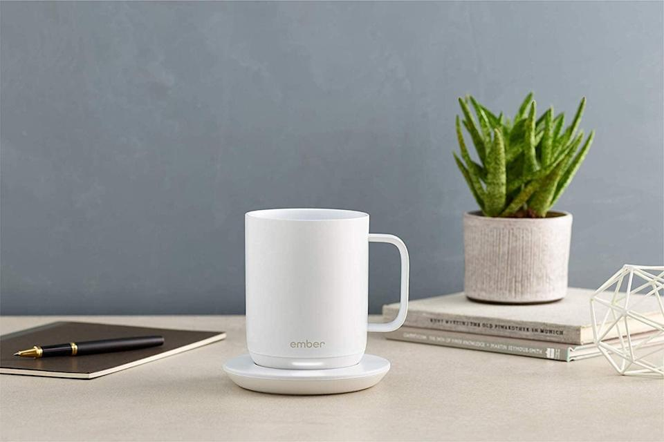 <p>This <span>Ember Temperature Control Smart Mug</span> ($100) will keep your drink at your desired temperature for however long you decide to nurse it.</p>