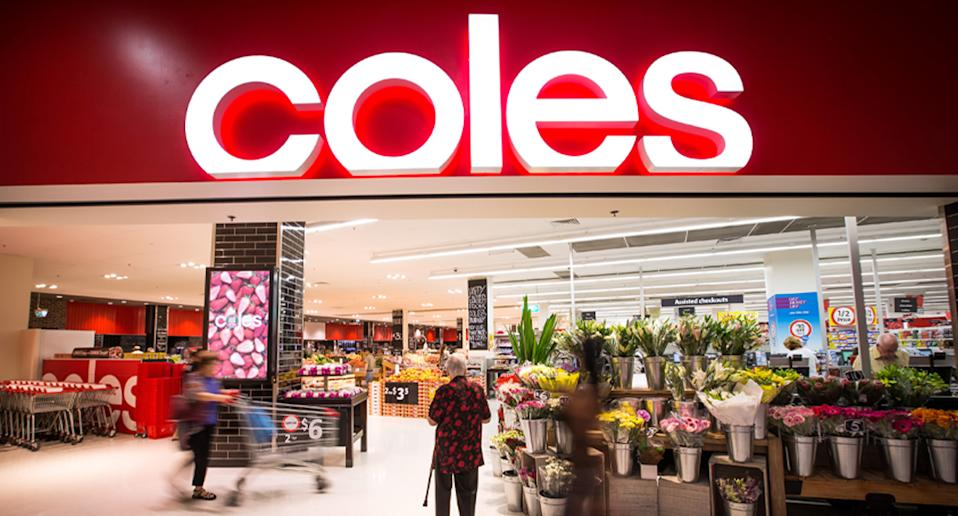 Coles store pictured.