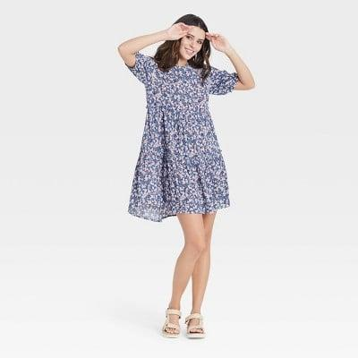 <p>This <span>Knox Rose Short Sleeve Babydoll Dress</span> ($30) is ready for all your spring picnics.</p>