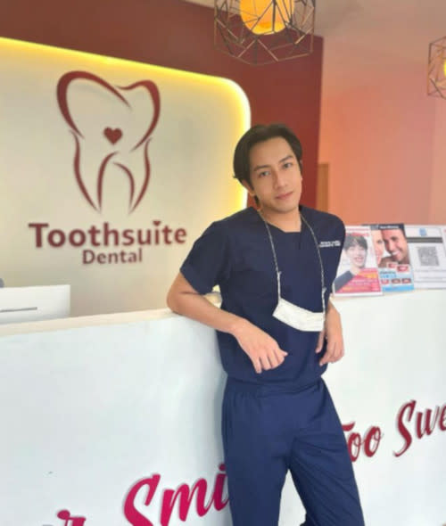 Hafiz has recently opened his dental clinic with a business partner