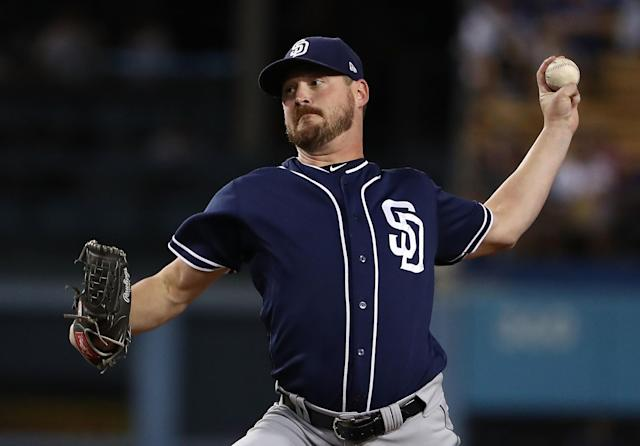 "<a class=""link rapid-noclick-resp"" href=""/mlb/players/8630/"" data-ylk=""slk:Travis Wood"">Travis Wood</a> signed a minor league deal with the <a class=""link rapid-noclick-resp"" href=""/mlb/teams/det/"" data-ylk=""slk:Detroit Tigers"">Detroit Tigers</a> after spending the 2017 season with the Royals and Padres. (Photo by Victor Decolongon/Getty Images)"