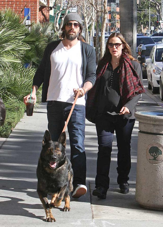 A-list couple Ben Affleck and Jennifer Garner are getting ready to expand their family again with baby number three, but they still make time for their furry child, a gorgeous German Shepherd.